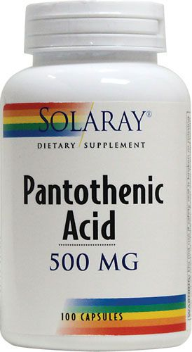 Solaray Ácido Pantoténico 500mg 100 capsulas