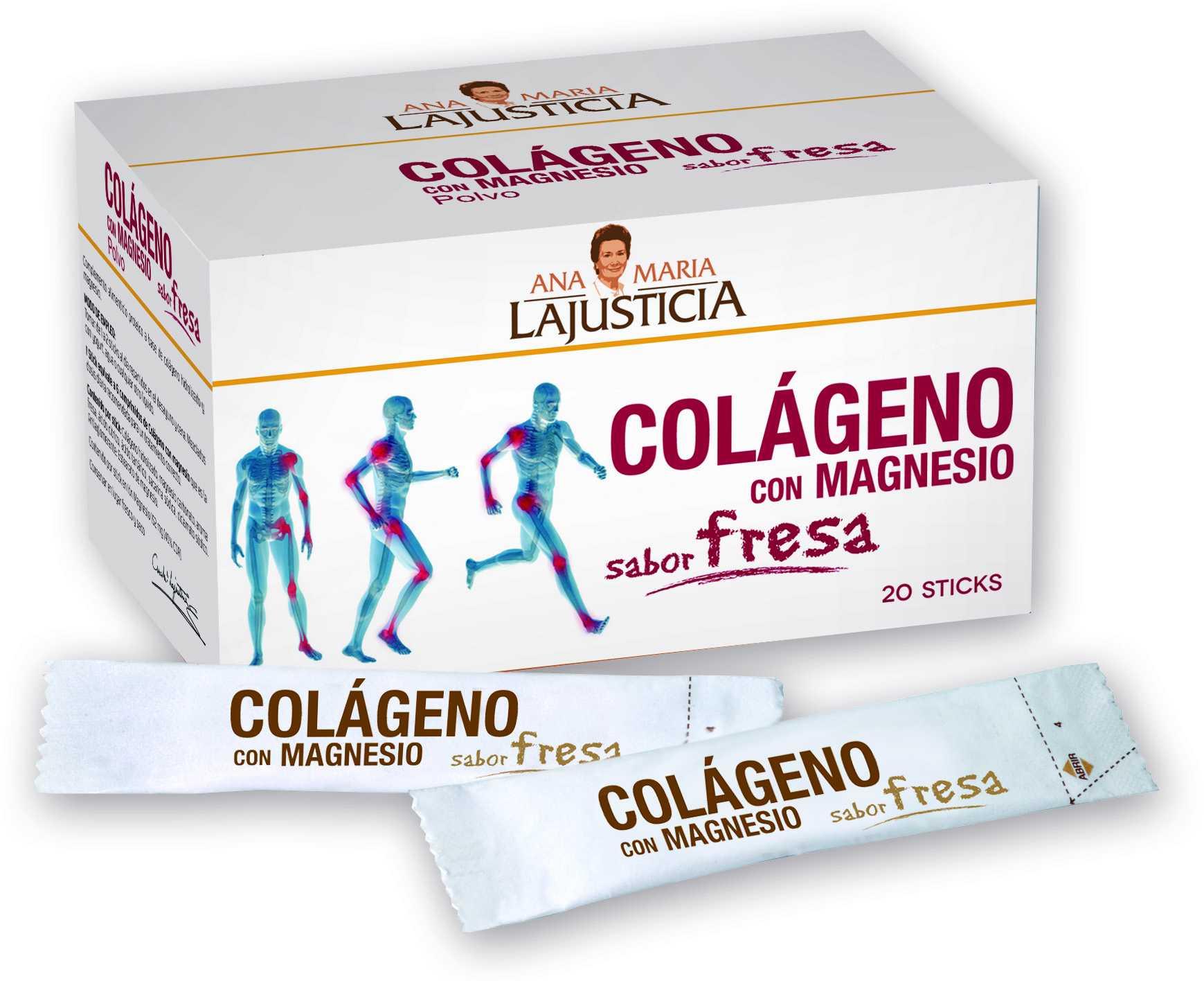 Ana Maria Lajusticia Colageno con Magnesio Fresa 20 sticks