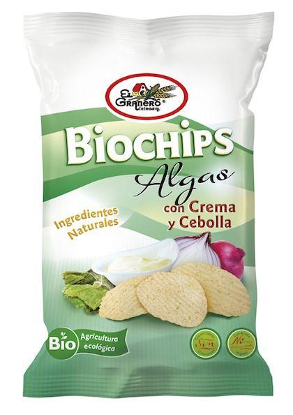 El Granero Biochips con Algas a la Crema de Cebolla 75g
