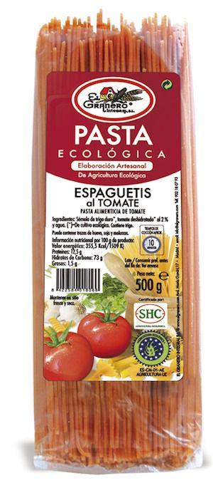 El Granero Espaguetis al Tomate Bio 500g
