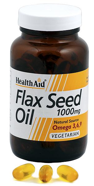 Health Aid aceite de linaza 1000mg 60 capsulas