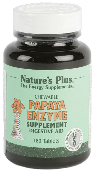 Natures Plus Papaya Enzime 180 masticables