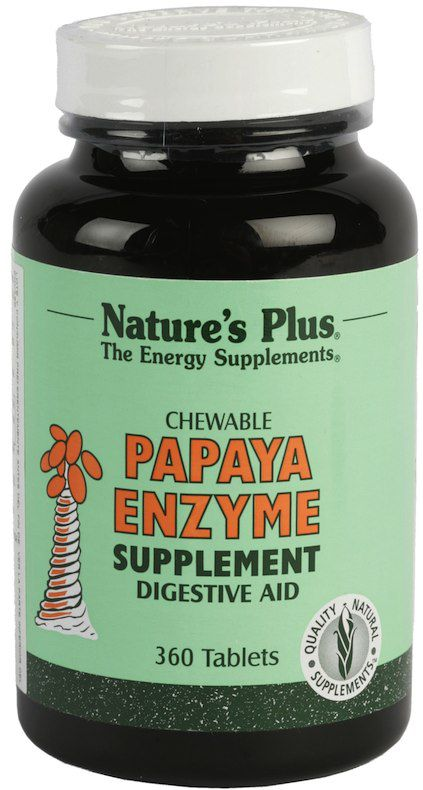 Natures Plus Papaya Enzime 360 masticables