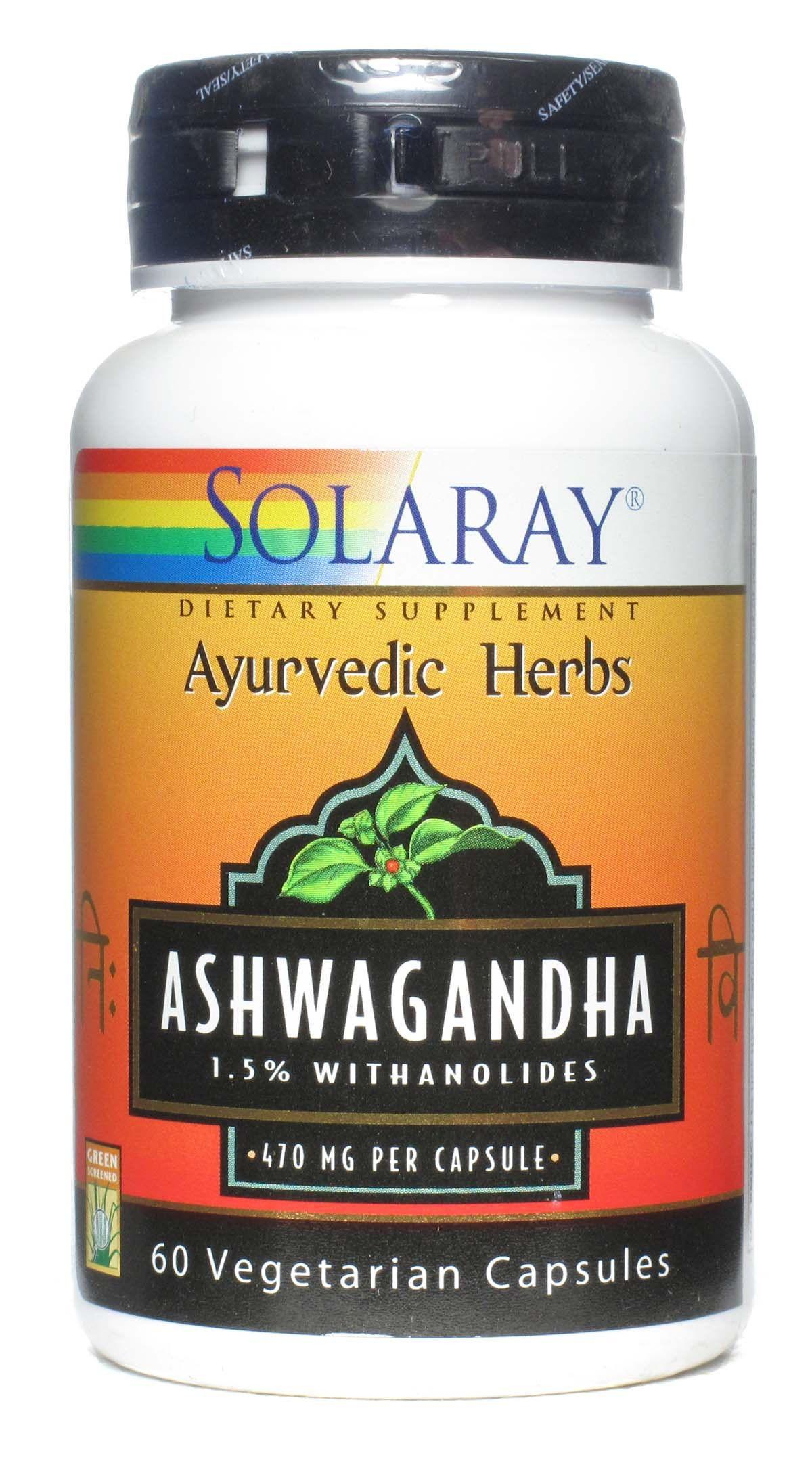 Solaray Ashwagandha 60 capsulas