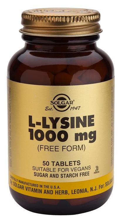 Solgar L-Lisina 1000 mg 50 comprimidos
