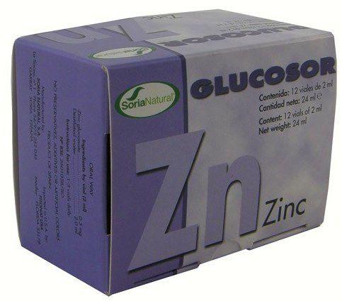 Soria Natural Glucosor Zinc 12 viales