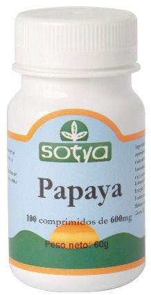 Sotya Papaya 100 comprimidos
